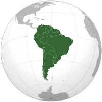 South America: Look up or calculate current time and date, time zones and time difference of the following countries