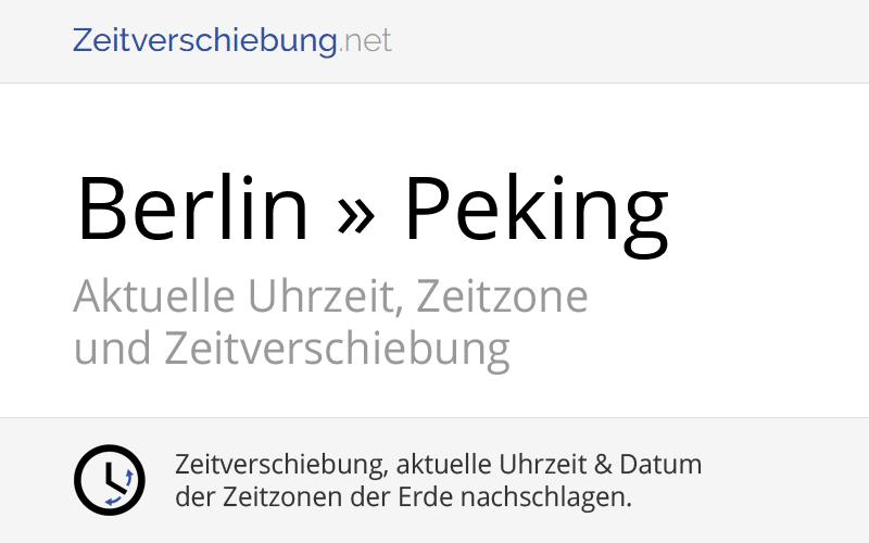 Zeitverschiebung Berlin