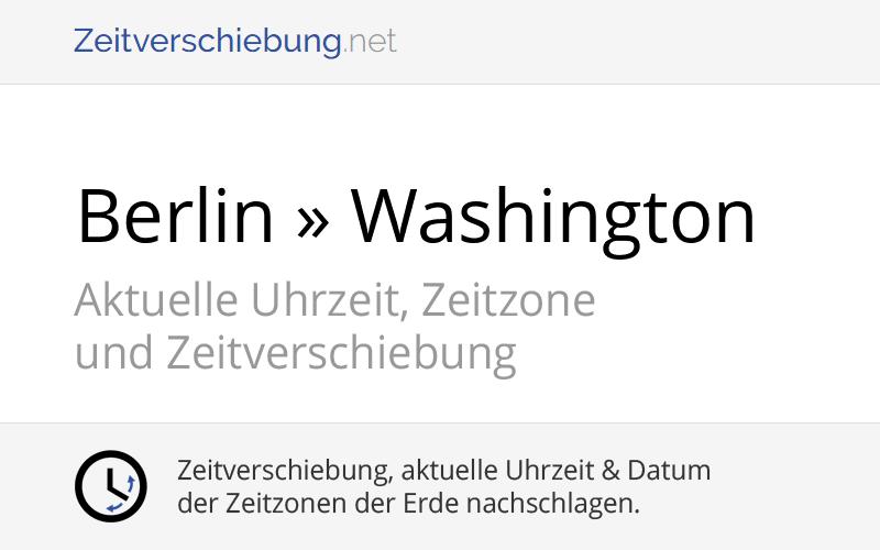 Zeitverschiebung Amerika Deutschland