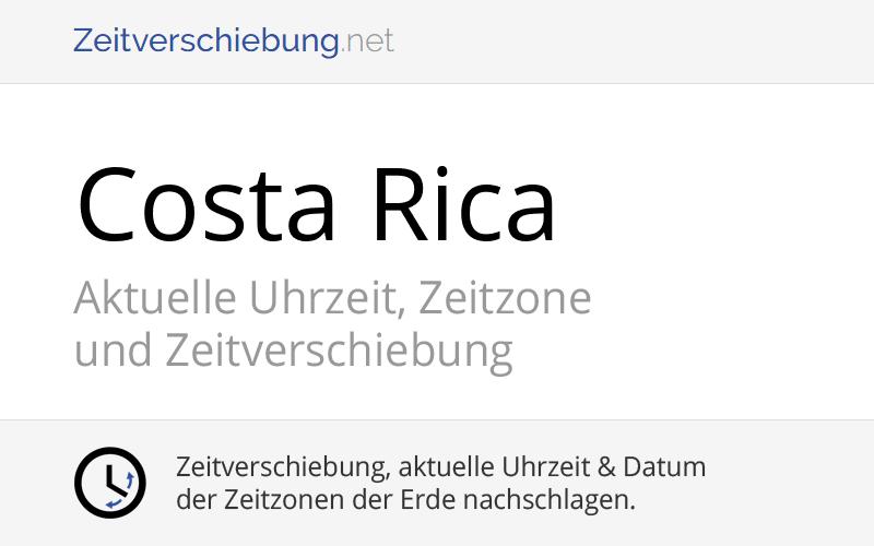 Costa Rica Zeitzone