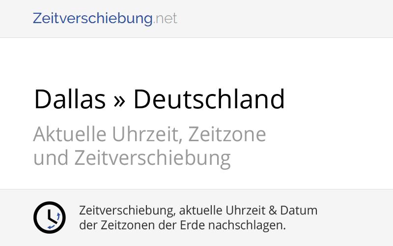 Zeitverschiebung Deutschland Usa