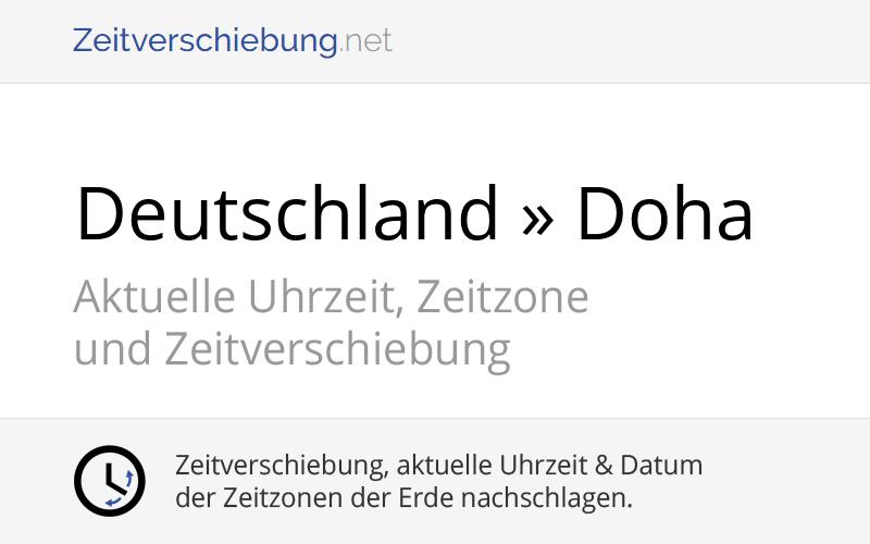 Zeitverschiebung Deutschland Katar