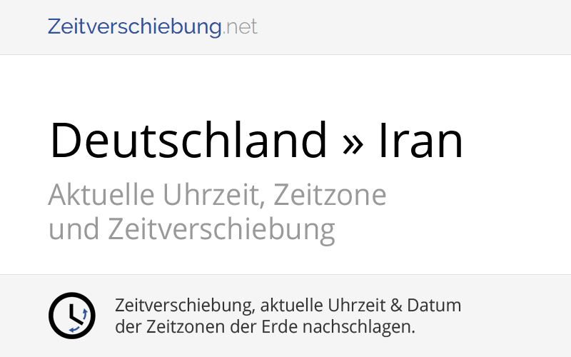 Zeitverschiebung Deutschland