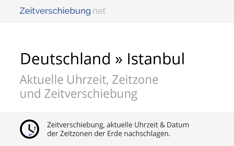 Deutschland Türkei Zeitverschiebung