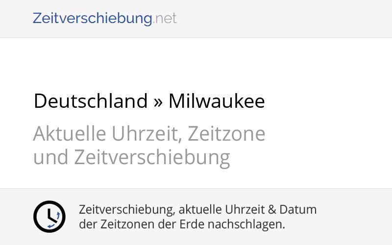 Zeitverschiebung Usa Deutschland