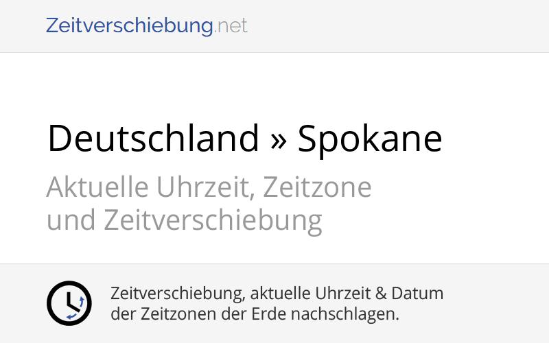 Usa Zeitverschiebung Deutschland