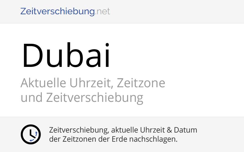 Zeitzone Dubai Deutschland