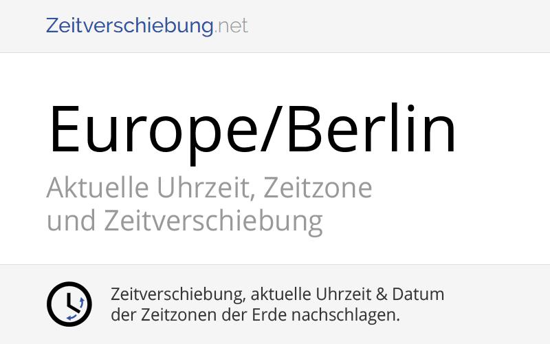 Uhrzeit Aktuell Deutschland