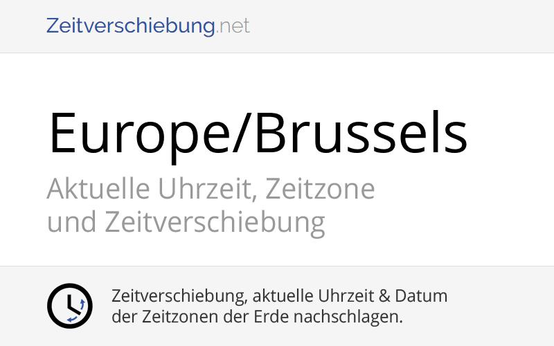 Belgien Zeitzone