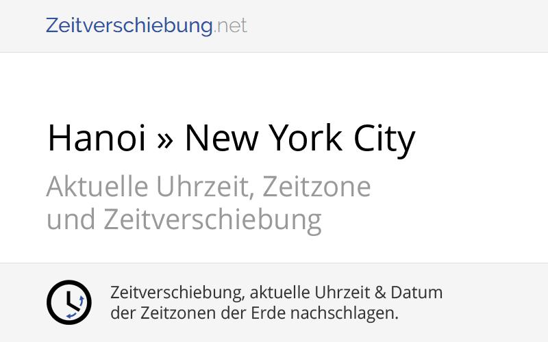 new york zeitverschiebung
