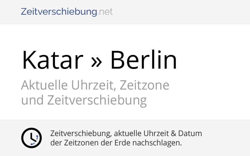 Zeitverschiebung Katar Deutschland