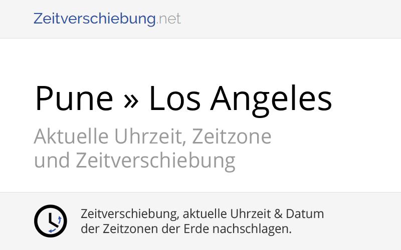Zeitverschiebung Deutschland Los Angeles