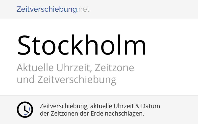 Stockholm Zeitzone