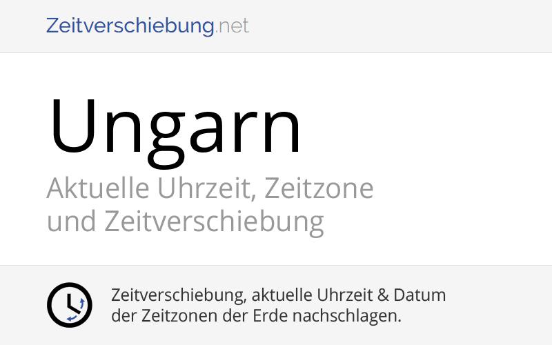 Ungarn Zeitzone
