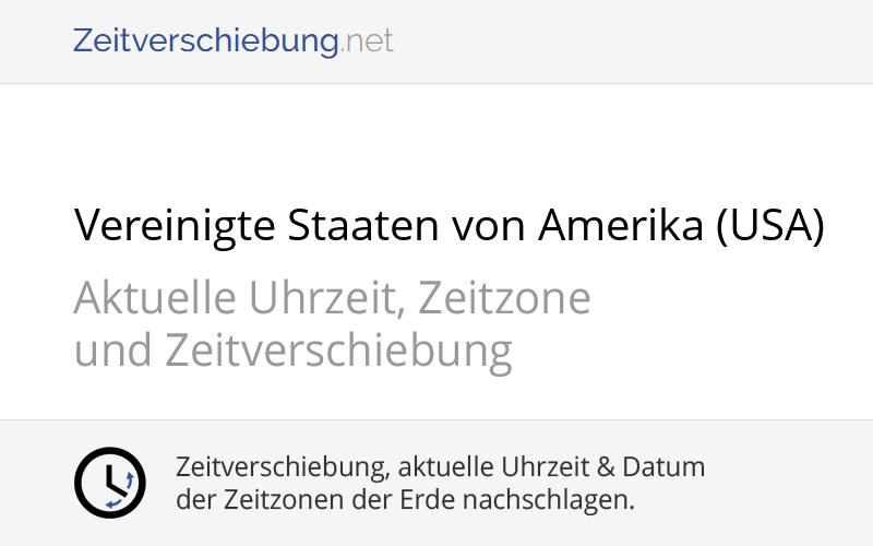 Zeitunterschied Deutschland Washington