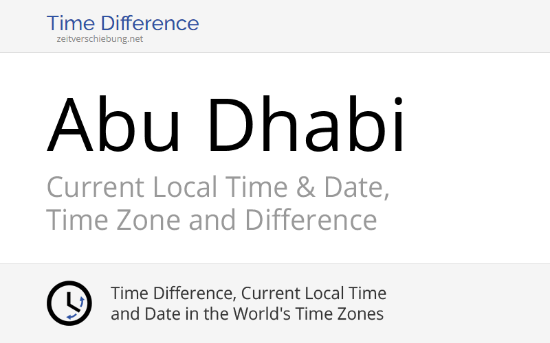 what is the time difference in abu dhabi