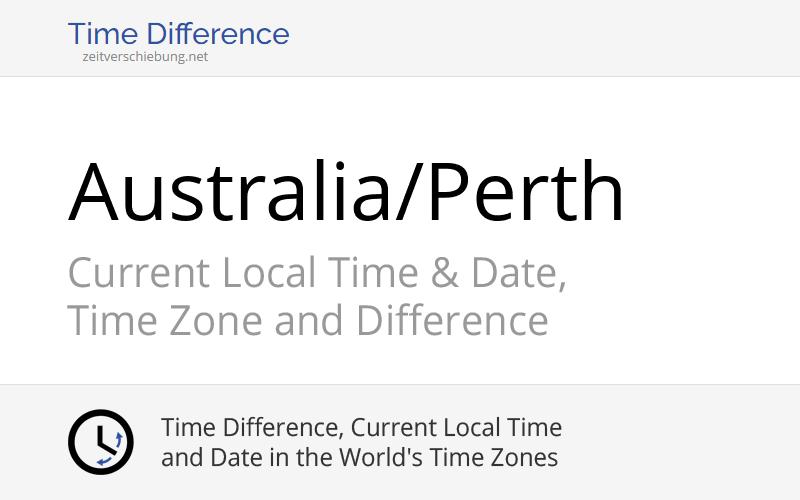 australia perth time zone in australia current local time. Black Bedroom Furniture Sets. Home Design Ideas