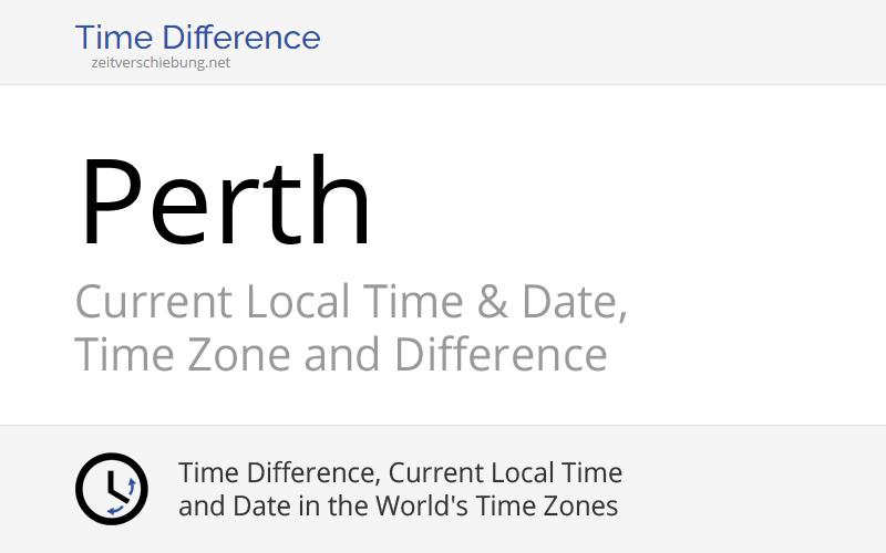 current time and date in perth western australia