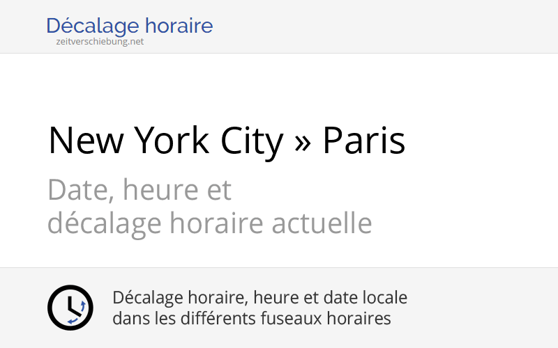 decalage horaire usa france
