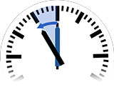 Time Change in Kahrīz to Standard Time from 12:00 am to 11:00 pm