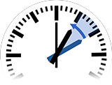 Time Change in Bishops Waltham to Standard Time from 2:00 am to 1:00 am