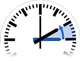 Time Change in Levallois-Perret to Standard Time from 3:00 am to 2:00 am